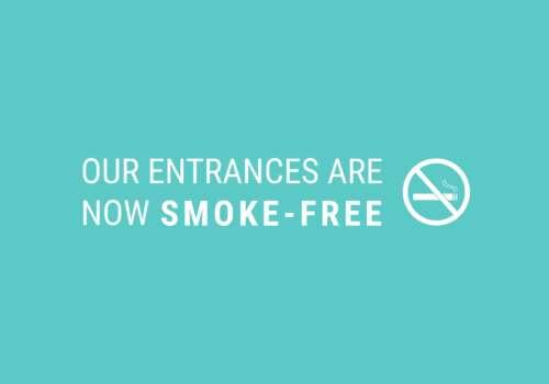 Smoke-free entrances